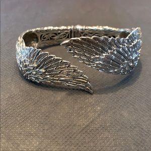 Scott Kay Sterling Silver Guardian Angel Cuff.